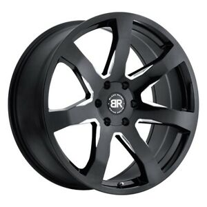 4 New 24x10 Black Rhino Mozambique Wheel rim Gloss Black 6x135 Et35 24 10 6 135