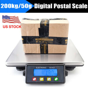 400lb 200kg Digital Postal Shipping Scale Weight Postage Counting 4x Battery