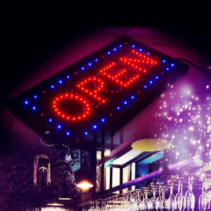 2in1 Bright Led Open Closed Store Shop Business Sign 10 20 Display Neon Bar