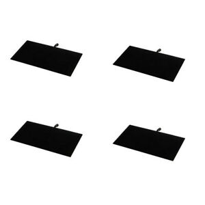 4 Pc 14 X 7 1 2 Black Velvet Pad Tray Insert Jewelry Display