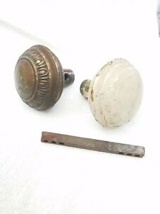 Door Knobs Vintage Antique Knob Set Old Ornate Brass