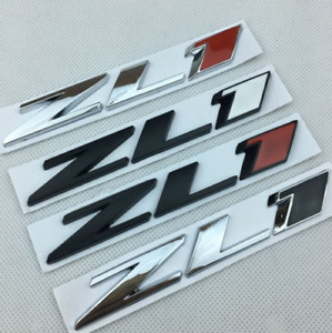 New Zl1 Trunk Badge Emblem Rear Hood Nameplate Sticker For Chevy Camaro