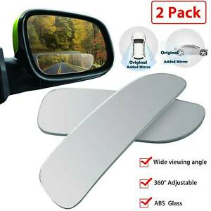 2 auto 360 Wide Angle Convex Rear Side View Blind Spot Mirror For Universal Car