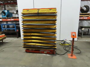 500 Lb Cap Air Over Hydraulic Lift Table 54 x19 Top 17 1 2 To 76 1 2 High