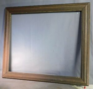 Antique Arts Crafts Reverse Cushion Grungy Bronze Picture Frame 20x24 Painting