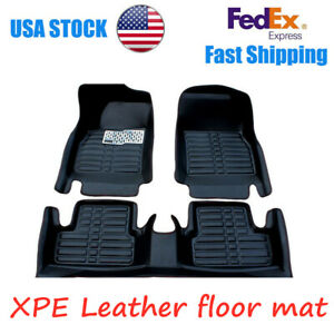 For 2014 2017 Honda Accord Car Floor Mats Front Rear Liner Leather Auto Mats