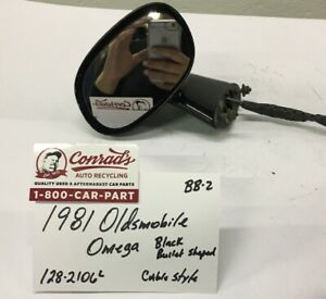 Used Vintage Oldsmobile Omega 1981 Left Side View Mirror