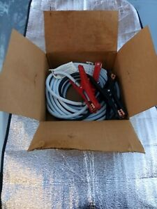 Jumper Booster Cables 25ft Professional Type 4ga Heavy Duty Clamps Bd98x Nos