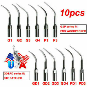 10pcs Dental Ultrasonic Piezo Scaler Scaling Tips Fit Ems Handpiece G