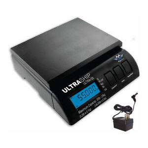 My Weigh Ultraship 55 Postal Scale black 55 Lb Capacity With Power Supply