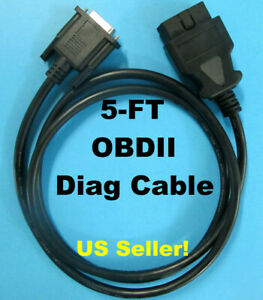 Obdii Obd2 Cable For Techmate J 50190 Signal Tech Ii Tech2 Tpms Scan Tool 5ft