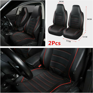 Universal Car Auto Synthetic Leather Front 2 Seat Covers Seat Bucket Protector