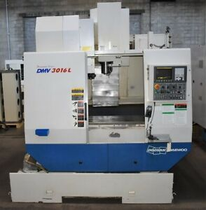 Daewoo Dmv 3016l Cnc Vertical Machining Center Mill Fanuc 0i Cnc low Hr 2005
