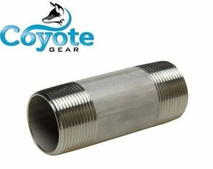 316 Ss 1 Npt X 2 5 Long Sch 40 Pipe Nipple Threaded Both Ends Stainless Steel