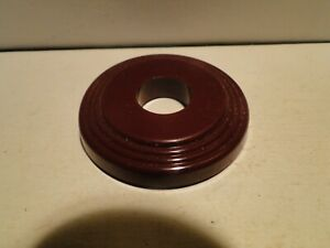 1934 1941 Mopar Interior Door Window Handle Escutcheon Maroon Burgundy Nors