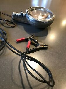 Vintage Electroline Handheld Sealed Beam Spotlight Converted To Cables Auto