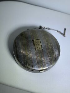 Vintage Sterling Silver 14k Gold Pill Snuff Box For Repair