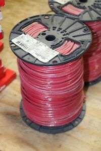New Spool Roll 500ft Red 10awg Wire