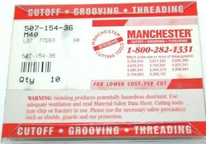 Lot Of 10 New Manchester Grooving Cut off Carbide Inserts 507 154 36 M40