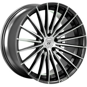 4ea 22 Lexani Wheels Ressa Black Machined Flow Forged Rims S1