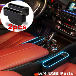 Upgraded Led Light Car Seat Gap Catcher Storage Box Organizer Pocket Right