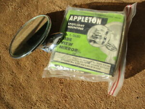 Vintage Add On Side View Mirror For Appleton Spotlights 1940s