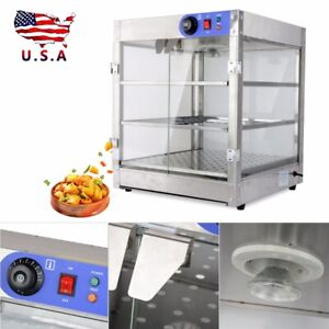 Commercial Countertop Pastry Food Pizza Warmer Display Cabinet Case 20x20x24inch