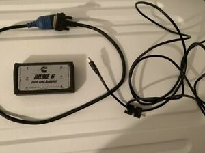 Inline 6 Data Link Adapter Cummins Rp1210 Heavy Duty Diagnostic Used 2 Cables
