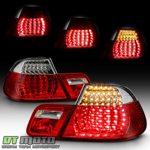 2004 2006 Bmw E46 325ci 330ci M3 2dr Coupe Red Clear Led Tail Lights Brake Lamps