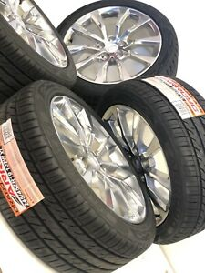 19 Inch Cadillac 4 Ct6 Xts Cts 08 19 Wheels And Tires Set 4775 Oem Factory