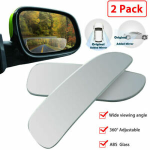 Blind Spot Mirror 2 Pcs 360 Wide Angle Convex Rear Side View Car Truck Suv