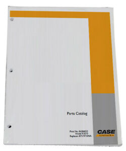 Case Sv250 Skid Steer Parts Catalog Manual Part 550711077pc