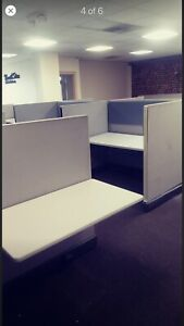 22 Herman Miller Call Center Cubicles 30 d X 60 w X 53 h Grey Ready To Ship