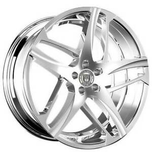 4ea 24 Lexani Wheels Bavaria Chrome Rims s13