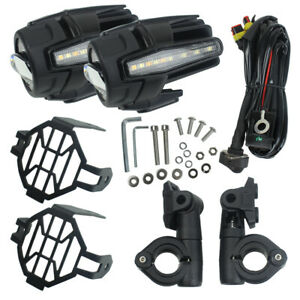 Moto Led Auxiliary Lights Spot Driving Fog Light Turn Signal Drl For R1200gs