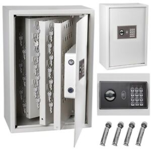 245 Storage Box Hook Key Safe Security Lock Digital Electronic Cabinet Organizer