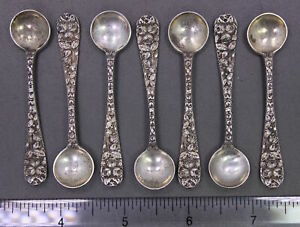 Baltimore Rose Schofield Sterling Silver 2 3 4 Salt Sugar Spoon 1 Piece