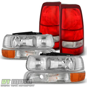 6pc 1999 2002 Chevy Silverado 1500 2500 3500 Headlights bumper Lamps tail Lights