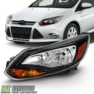 2012 2013 2014 Ford Focus Black Trim Headlight Headlamp Replacement Driver Side