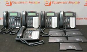 Esi Communications Office 48 Key Display Phones Telephones Stand Lot Of 5