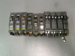 Square D 1 Pole Circuit Breaker Q0130 20a Lot Of 10