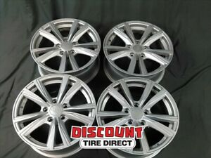 4 Used 16x7 5 112 40 Offset Mbm Wynter Silver Wheels rims