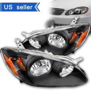 Headlights Assembly For 2003 2008 Toyota Corolla Headlamps Replacement Pair Set