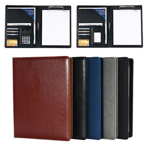 A4 Executive Conference Document Folder Pu Portfolio Leather Organiser Usa