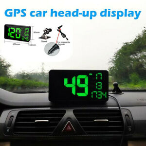 6 2 Universal Car Truck Gps Based Speedometer Hud Mph Km h Overspeed Warning
