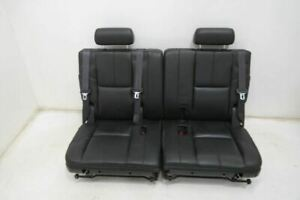 07 14 Gmc Yukon Cadillac Escalade 3rd Row 50 50 Bench Seats Ebony Leather