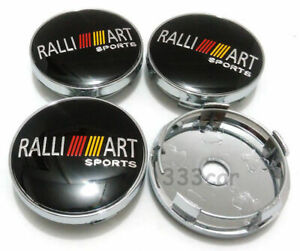 Jdm 60mm Ralliart Sports Wheel Center Cap Badge Hub Cover For Mitsubishi Cars