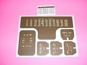 1939 Chevy Master Deluxe Gauges Speedometer Clock Decals