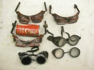 Lot Of Cool Old Vintage Welding Cutting Torch Glasses Goggles Steampunk
