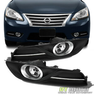For 2013 2015 Sentra Bumper Fog Lights Driving Lamps W Switch Bulbs Left right